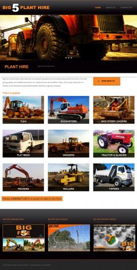 Big_5_Plant_Hire_Website - Designed by Amphibic