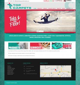 Top Carpets Website by Amphibic Design