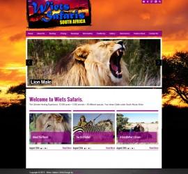 Web Design for Wiets Safaris, Kimberley